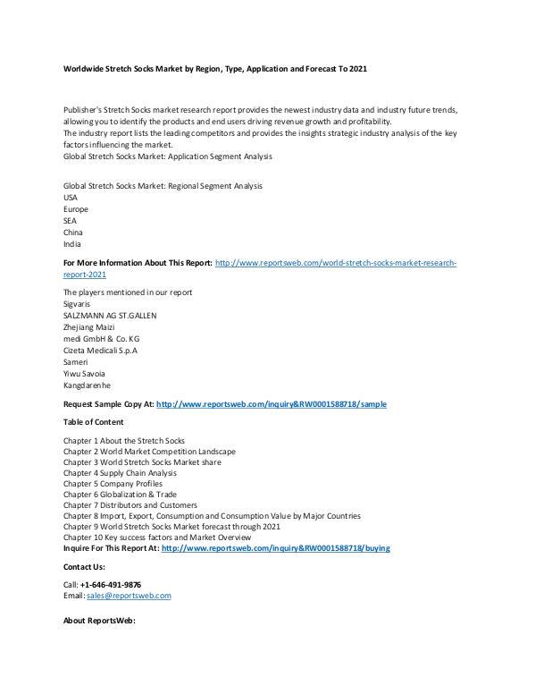 Market Research Update World Stretch Socks Market Research Report 2021