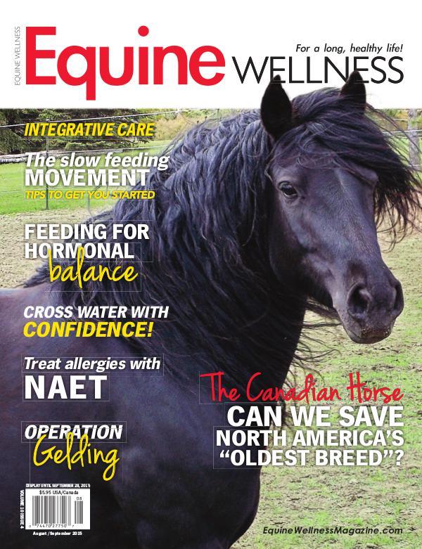 Equine Wellness Magazine Aug/Sept 2015