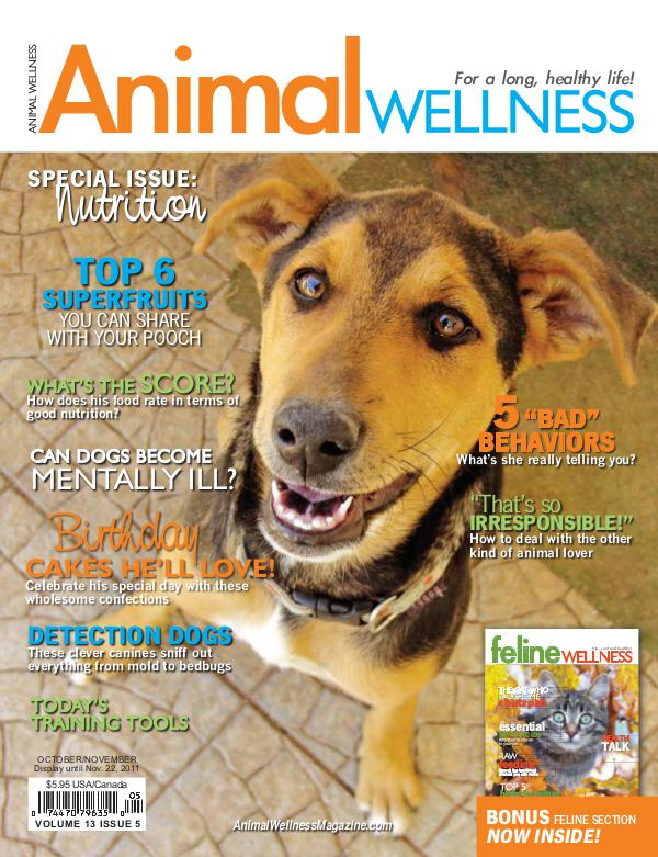 Animal Wellness Magazine Oct/Nov 2011