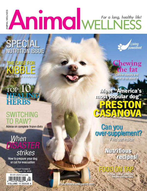 Animal Wellness Magazine Aug/Sept 2009