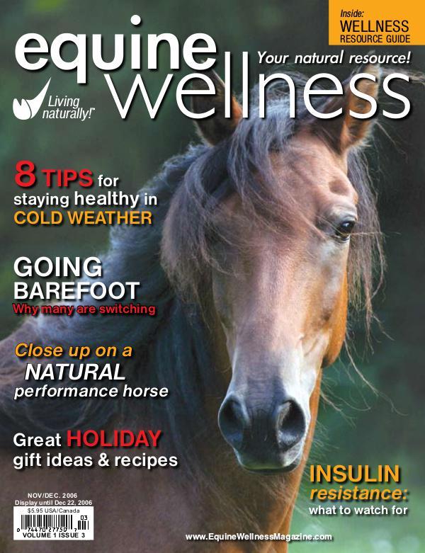 Equine Wellness Magazine Nov/Dec 2006