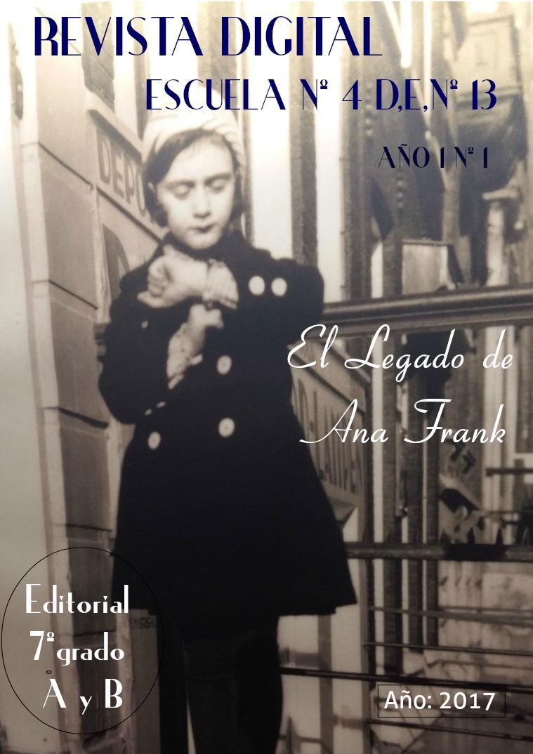 Resignificando el legado de Ana Frank Octubre 2017. (1ª ed.)