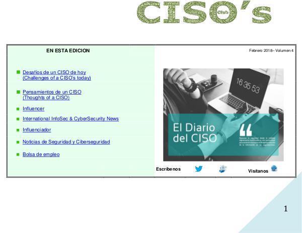 El Diario del CISO Volumen 4 - 2018