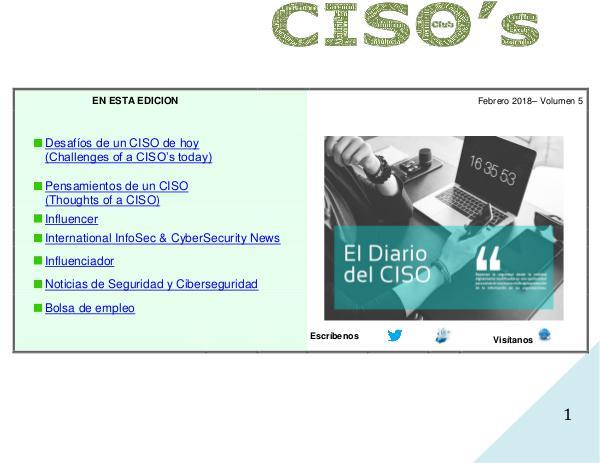 El Diario del CISO Volumen 5