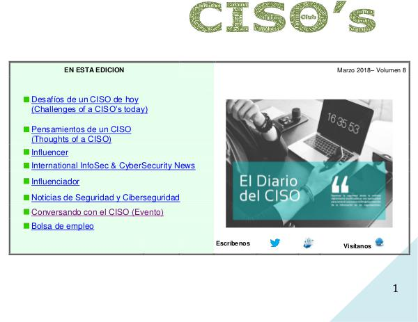 El Diario del CISO (The CISO Journal) Edición 8 2018