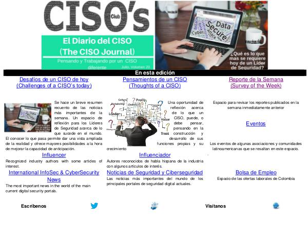 El Diario del CISO (The CISO Journal) Edición 20