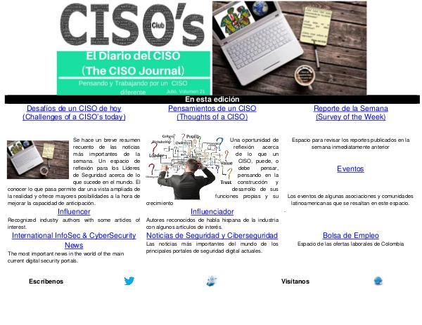 El Diario del CISO El Diario del CISO (The CISO Journal) Edición 21
