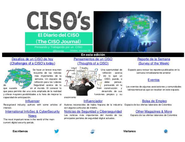 El Diario del CISO El Diario del CISO (The CISO Journal) Edición 29