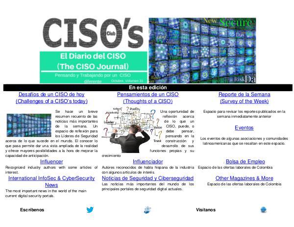 El Diario del CISO El Diario del CISO (The CISO Journal) Edición 31