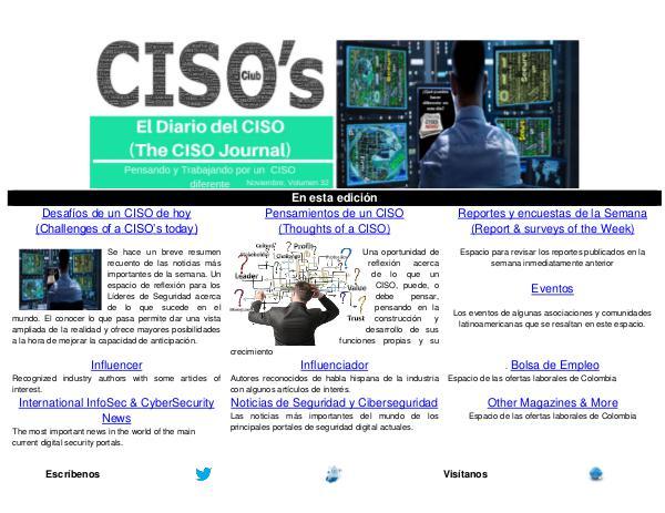 El Diario del CISO El Diario del CISO (The CISO Journal) Edición 32