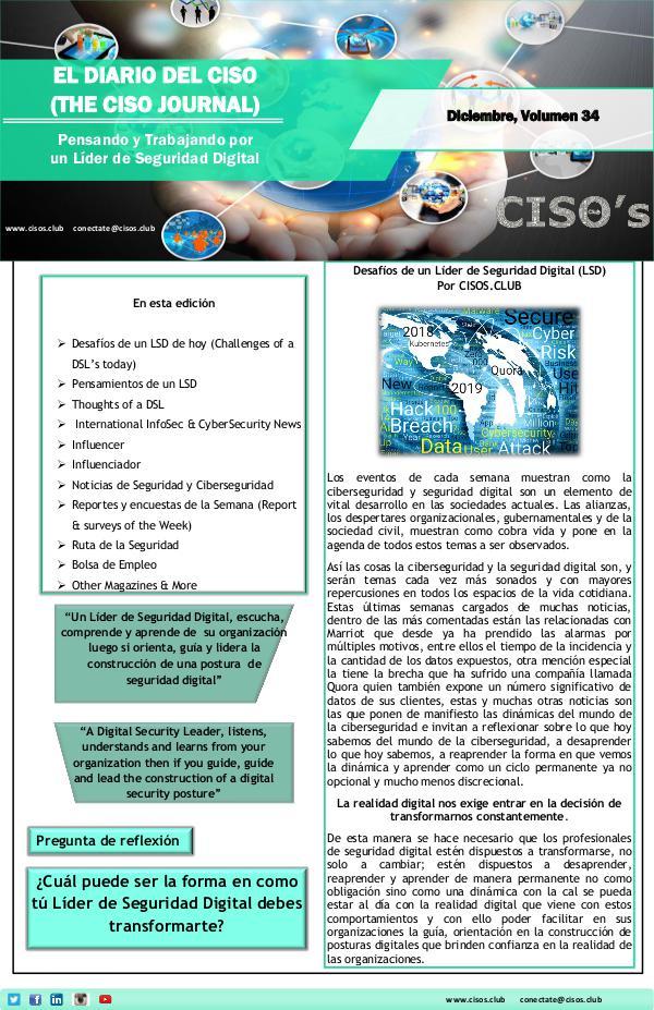 El Diario del CISO El Diario del CISO (The CISO Journal) Edición 34