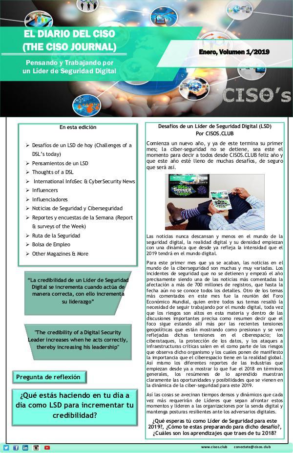 El Diario del CISO El Diario del CISO (The CISO Journal) Edición 1