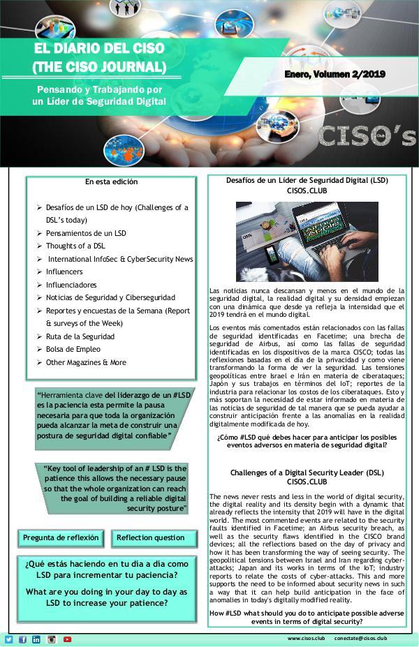 El Diario del CISO (THE CISO JOURNAL) EDICIÓN 2/19