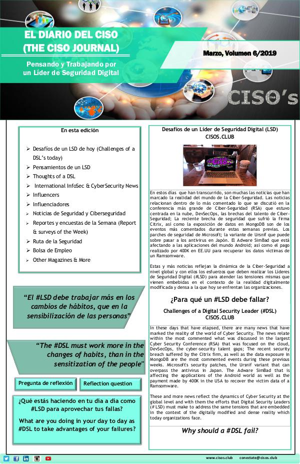 El Diario del CISO (The CISO Journal) Edición 6