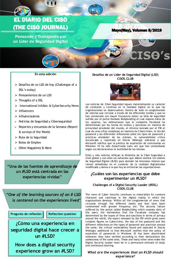 El Diario del CISO (The CISO Journal) Edición 8