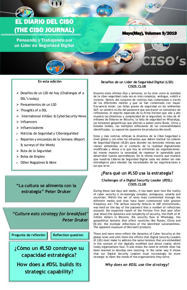 El Diario del CISO (The CISO Journal) Edición 9