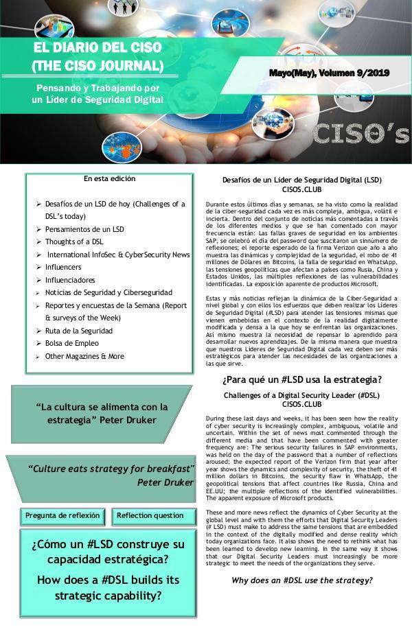 El Diario del CISO (The CISO Journal) Edición 9