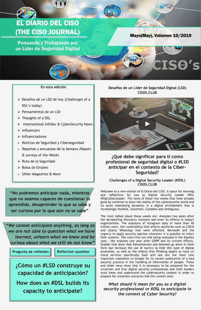 El Diario del CISO (The CISO Journal) Edición 10