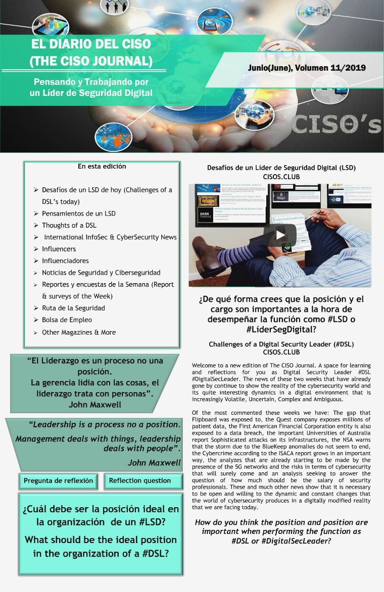 El Diario del CISO (The CISO Journal) Edición 11