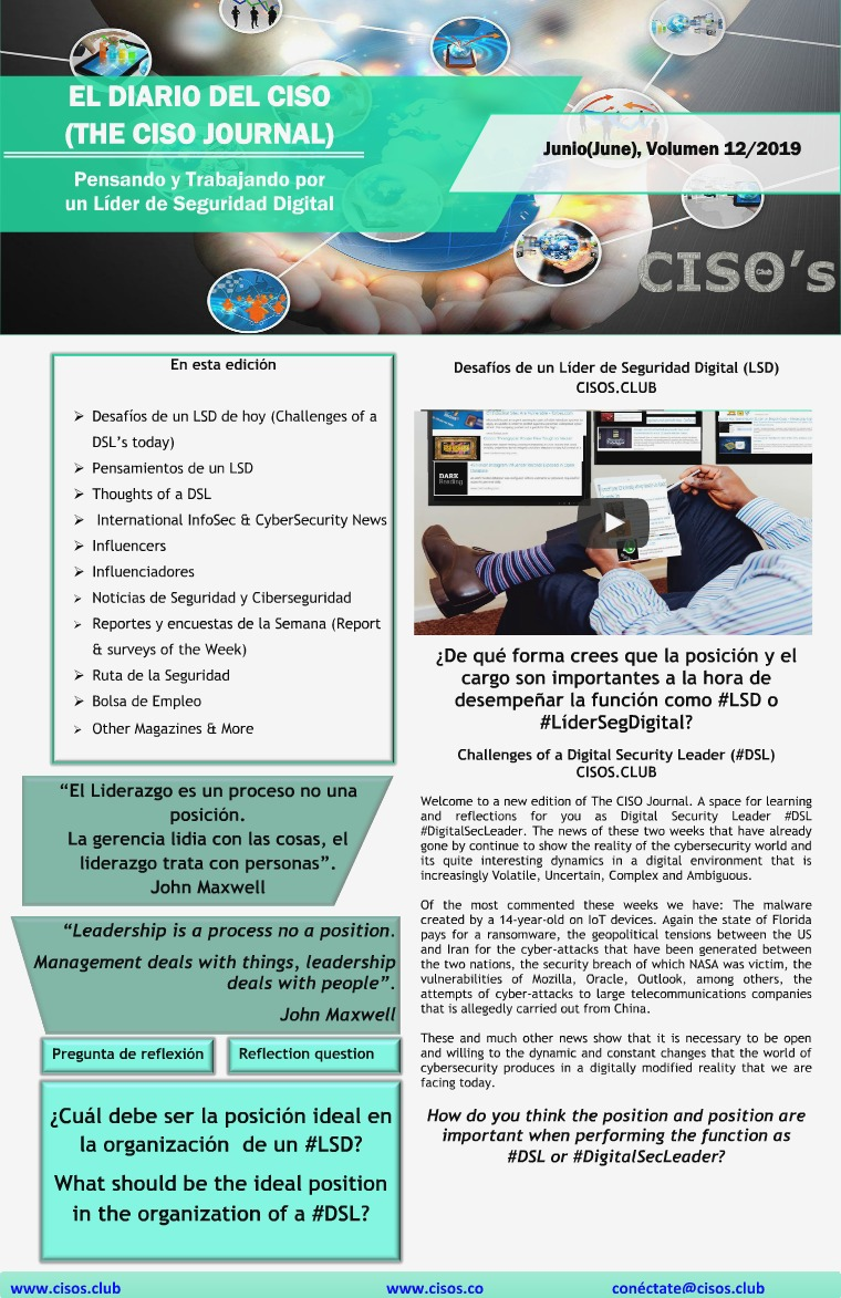 El Diario del CISO (The CISO Journal) Edición 12
