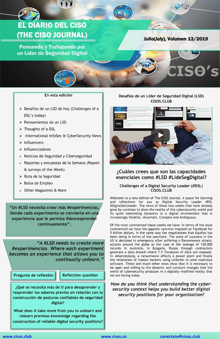 El Diario del CISO (The CISO Journal) Edición 13
