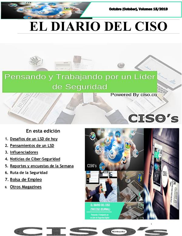 El Diario del CISO (The CISO Journal) Edición 15