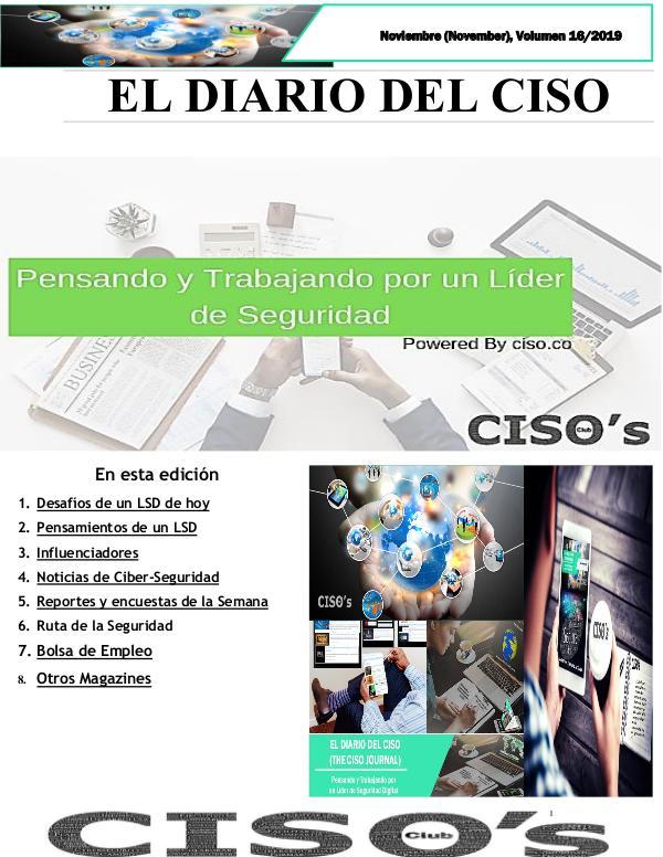 El Diario del CISO El Diario del CISO (The CISO Journal) Edición 16