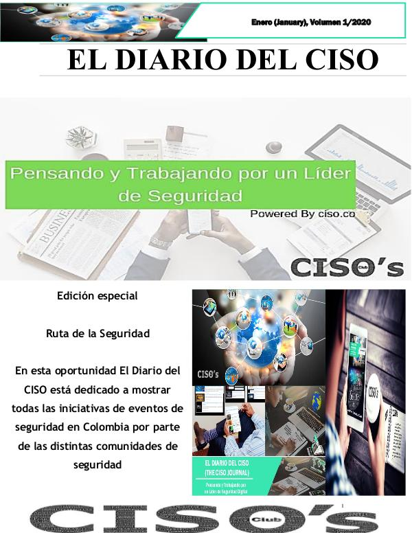 El Diario del CISO (The CISO Journal) Edición 1/20