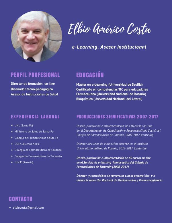Diseño y producción e-Learning en la década 2007-2017 E. Costa