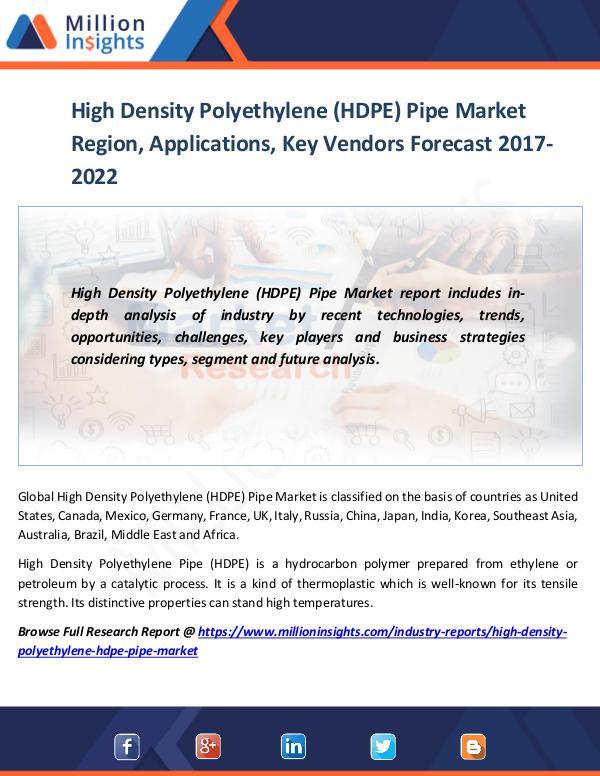 Market World High Density Polyethylene (HDPE) Pipe Market