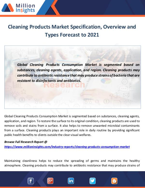 Market World Cleaning Products Consumption Market