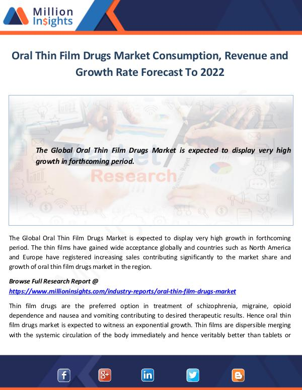 Oral Thin Film Drugs Market Consumption