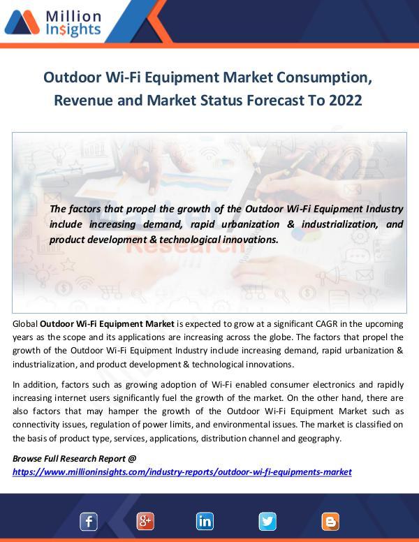 Outdoor Wi-Fi Equipment Market