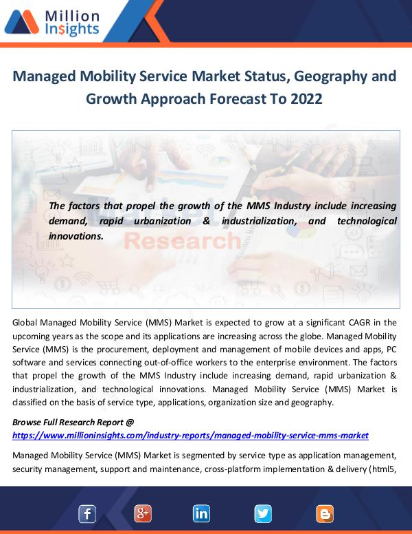Managed Mobility Service Market Status