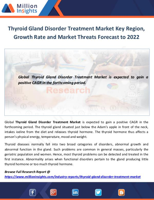Thyroid Gland Disorder Treatment Market Key Region
