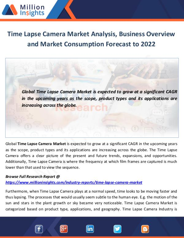 Time Lapse Camera Market Analysis