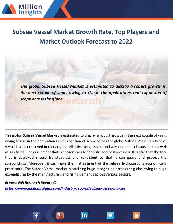 Subsea Vessel Market Growth