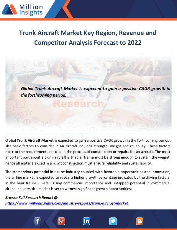 Market World Trunk Aircraft Market