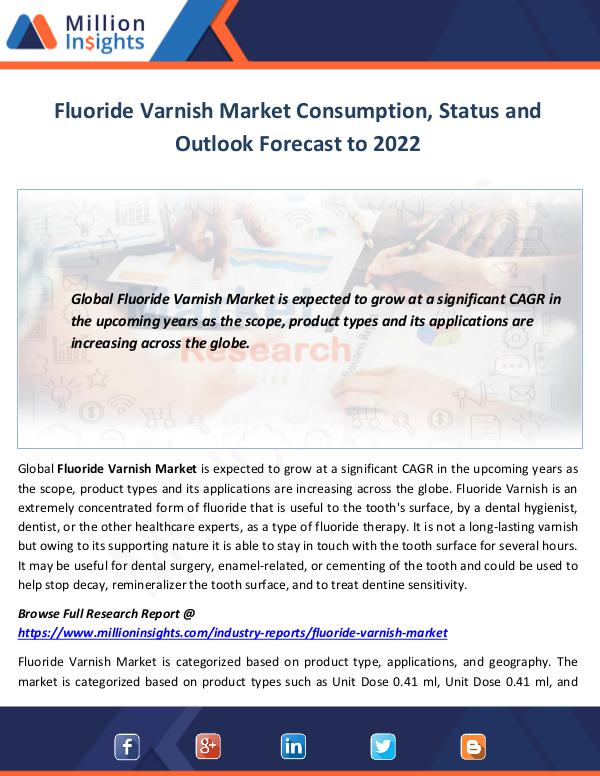 Fluoride Varnish Market
