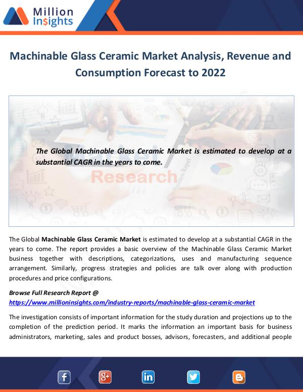 Market World Machinable Glass Ceramic Market