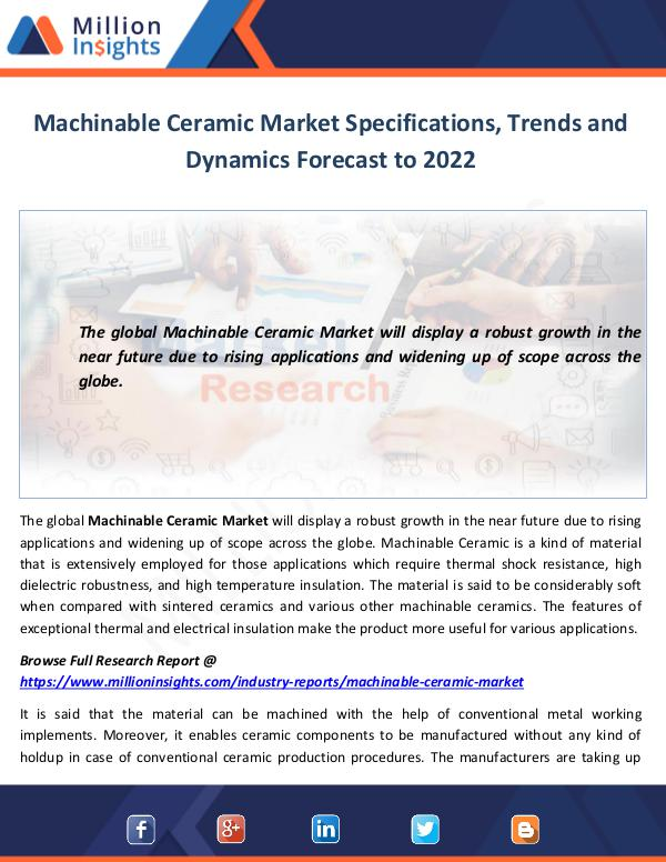 Machinable Ceramic Market