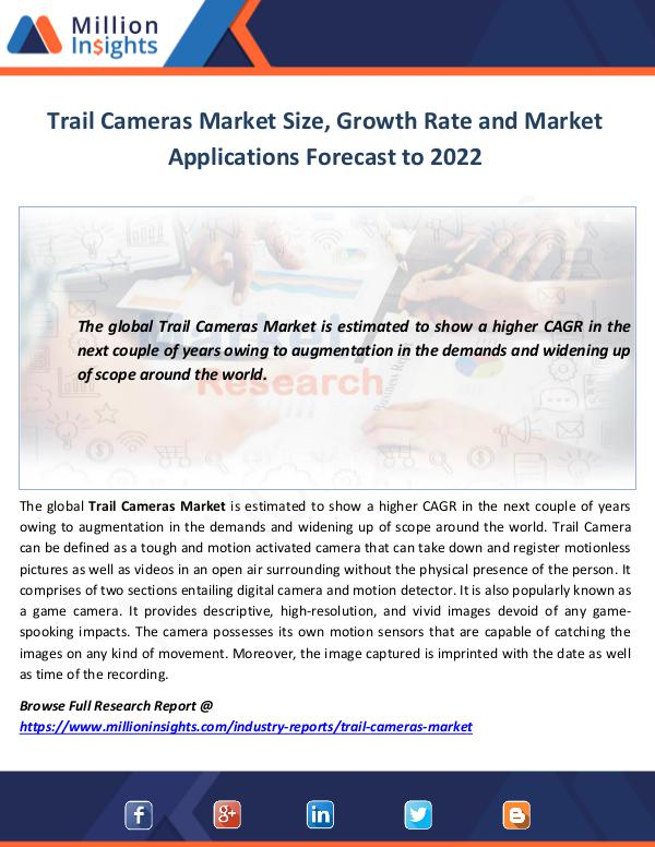 Market World Trail Cameras Market Size
