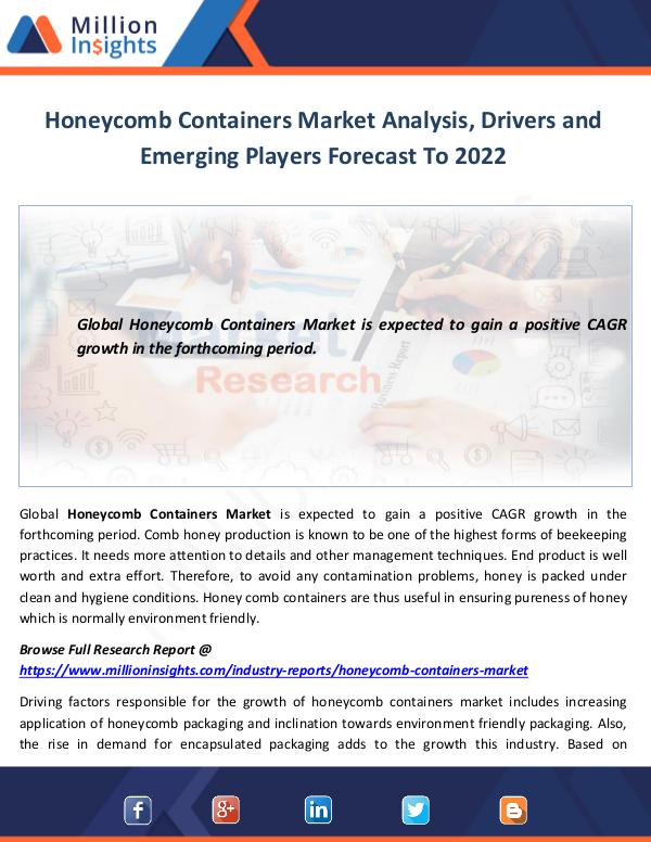 Market World Honeycomb Containers Market Analysis