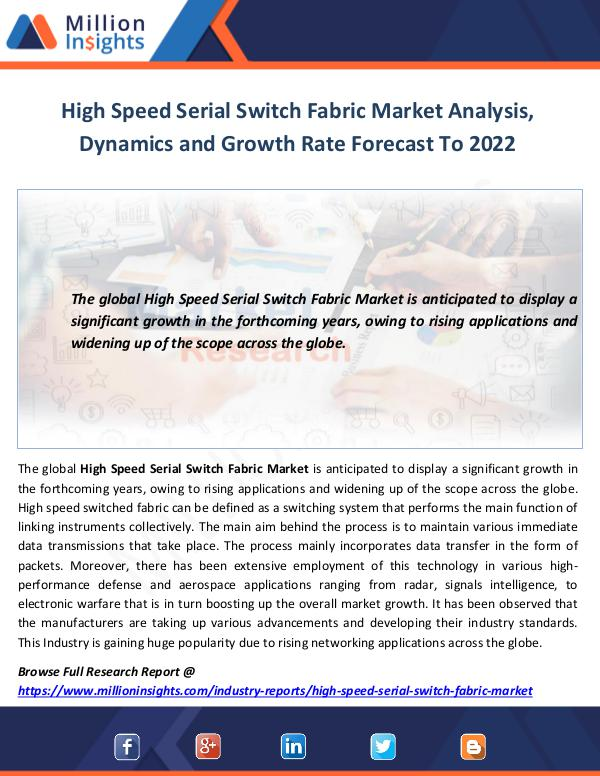High Speed Serial Switch Fabric Market Analysis
