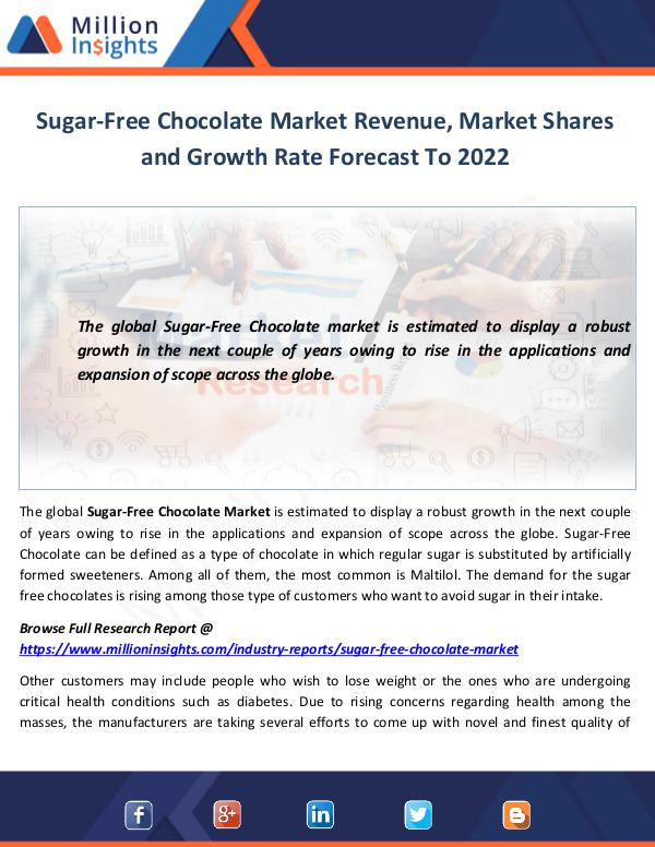 Sugar-Free Chocolate Market Shares