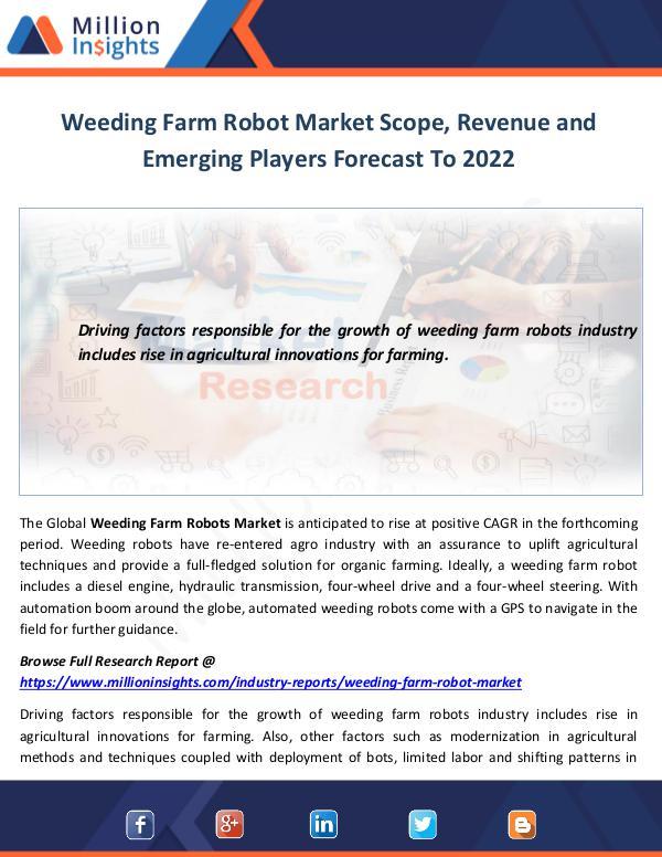 Market World Weeding Farm Robot Market Scope