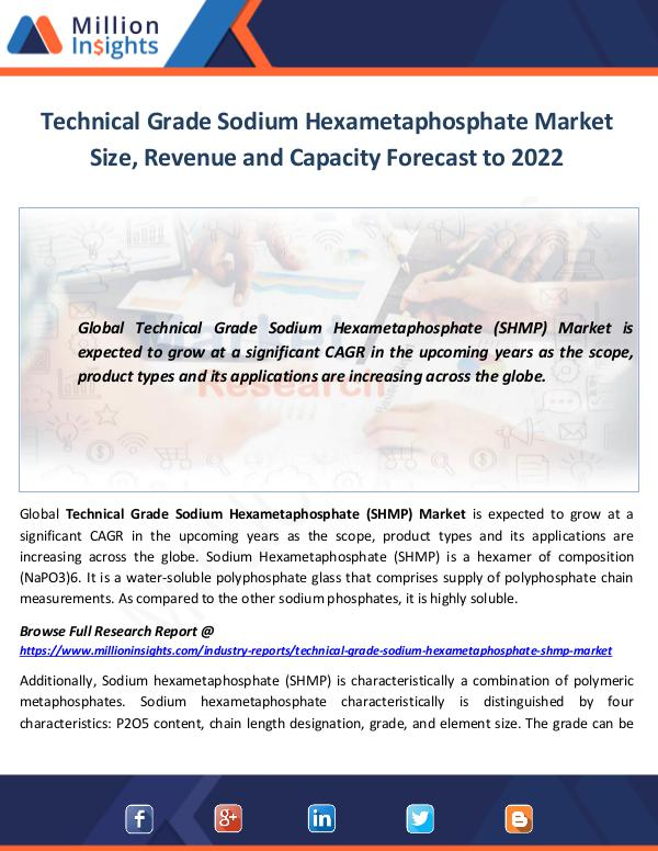 Market World Technical Grade Sodium Hexametaphosphate Market