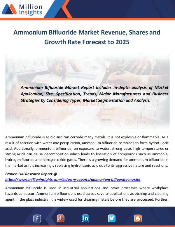 Market World Ammonium Bifluoride Market
