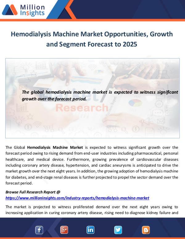 Market World Hemodialysis Machine Market