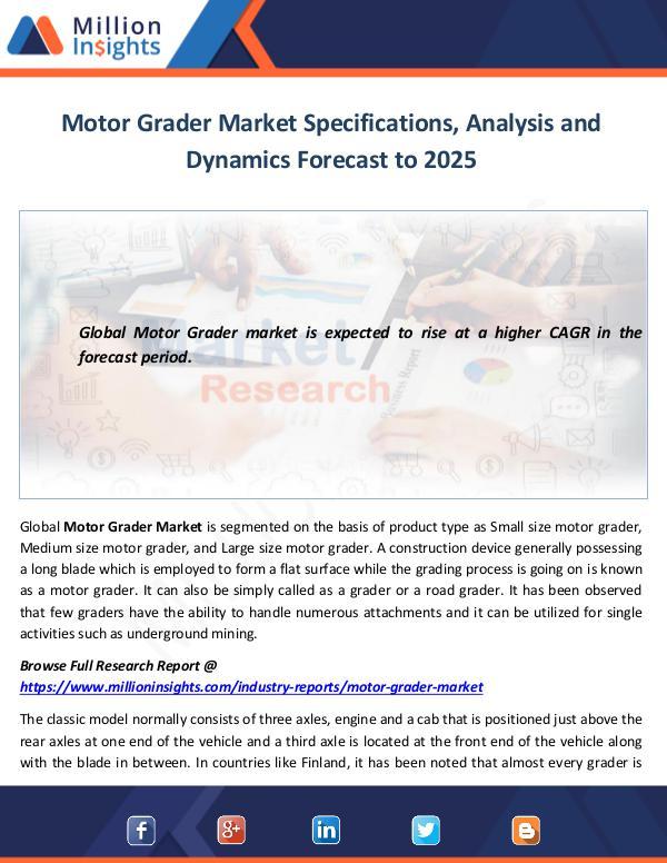Market World Motor Grader Market Analysis